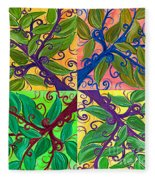 Four Branches By Jrr Fleece Blanket
