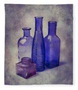 Four Glass Bottles Fleece Blanket