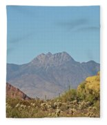 Four Peaks From The Apache Trail Fleece Blanket