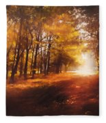 Four Seasons Autumn Impressions At Dawn Fleece Blanket