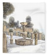 four seasons-winter on lake Como Fleece Blanket