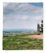 Four Standing Stones On The Clent Hills Fleece Blanket