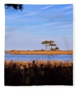 Four Trees H Fleece Blanket