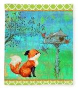 Fox-a Fleece Blanket