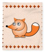 Fox - Animals - Art For Kids Fleece Blanket