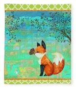Fox-d Fleece Blanket