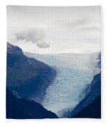 Fox Glacier On South Island Of New Zealand Fleece Blanket