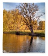 Fox River-jp2419 Fleece Blanket