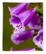 Foxglove Flower Fleece Blanket