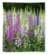 Foxglove Garden In Golden Gate Park Fleece Blanket