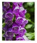 Foxgloves Textured Fleece Blanket