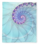 Fractal 17 Fleece Blanket