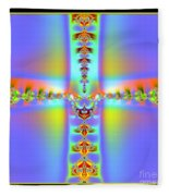 Fractal 7 Cross Fleece Blanket
