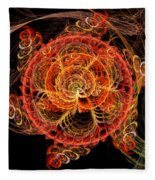 Fractal - Abstract - Mardi Gras Molecule Fleece Blanket