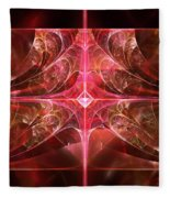 Fractal - Abstract - The Essecence Of Simplicity Fleece Blanket