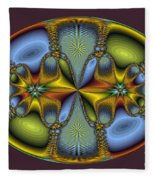Fractal Art Egg Fleece Blanket