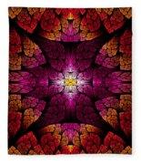 Fractal - Aztec - The All Seeing Eye Fleece Blanket