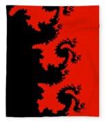 Fractal Black Dragons Fleece Blanket