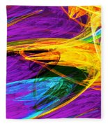 Fractal - Butterfly Wing Closeup Fleece Blanket