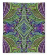 Fractal Cross Fleece Blanket