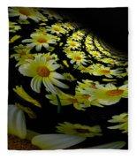 Fractal Daisies Fleece Blanket