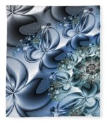 Fractal Dancing The Blues Fleece Blanket