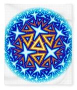 Fractal Escheresque Winter Mandala 10 Fleece Blanket