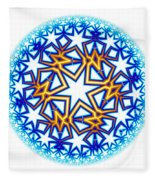 Fractal Escheresque Winter Mandala 2 Fleece Blanket