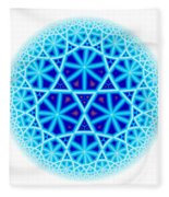 Fractal Escheresque Winter Mandala 4 Fleece Blanket