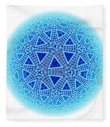 Fractal Escher Winter Mandala 5 Fleece Blanket