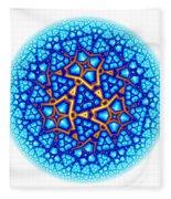 Fractal Escheresque Winter Mandala 8 Fleece Blanket