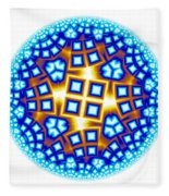 Fractal Escheresque Winter Mandala 9 Fleece Blanket