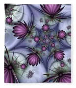 Fractal Fantasy Butterflies Fleece Blanket