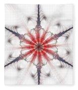 Fractal Flake Fleece Blanket