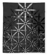 Fractal Flakes Fleece Blanket