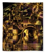 Fractal Flooding Fleece Blanket