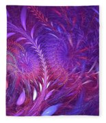 Fractal Flower Fields Fleece Blanket