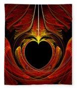 Fractal - Heart - Victorian Love Fleece Blanket