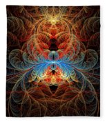Fractal - Insect - Black Widow Fleece Blanket
