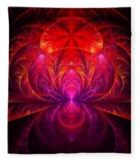 Fractal - Jewel Of The Nile Fleece Blanket