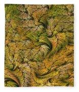 Fractal Leaf Mat-- 2 Fleece Blanket