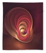 Fractal Oyster-1 Fleece Blanket