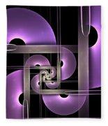 Fractal Purple Semicircles Fleece Blanket