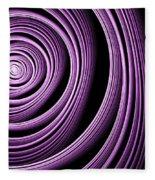Fractal Purple Swirl Fleece Blanket