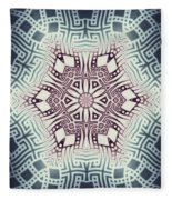 Fractal Snowflake Pattern 1 Fleece Blanket