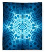 Fractal Snowflake Pattern 2 Fleece Blanket