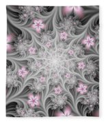 Fractal Soft Flowers Fleece Blanket