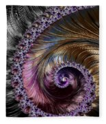 Fractal Spiral 2 - A Fractal Abstract Fleece Blanket