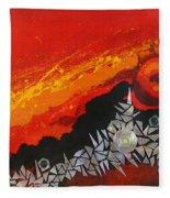 Fractal Sunrise Fleece Blanket