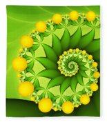 Fractal Sweet Yellow Fruits Fleece Blanket